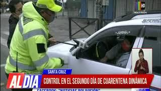 Siguen controles el segundo día de cuarentena dinámica en Santa Cruz