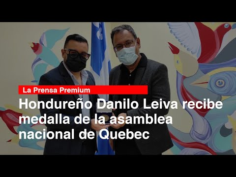 Hondureño Danilo Leiva recibe medalla de la asamblea nacional de Quebec