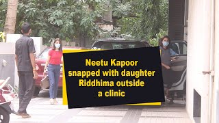 Neetu Kapoor snapped with daughter Riddhima outside a clinic - IANSINDIA