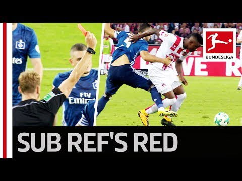 Refereeing Oddity - Replacement Shows Red Card After 42 Seconds