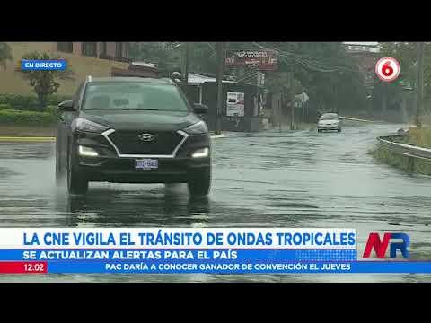 CNE vigila onda tropicales que ingresarán al país esta semana