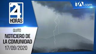 Noticias Ecuador: Noticiero 24 Horas, 17/09/2020 (De la Comunidad Primera Emisión)