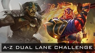Dota 2 A-Z Dual Lane Challenge - Elder Titan and Ember Spirit