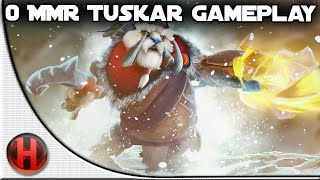 Dota 2 Fails - 0 MMR Tuskar Gameplay
