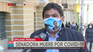 La senadora Emiliana Paredez, del MAS, perdió la vida por el coronavirus
