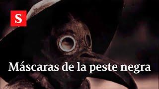 El antepasado del tapabocas: así era la máscara que usaban en la peste negra.