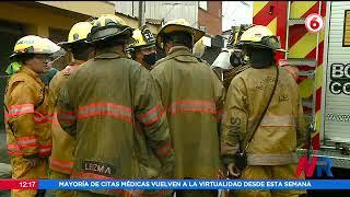 Un adulto y dos niños hospitalizados por incendio