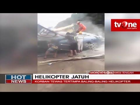 Helikopter PT Indonesia Morowali Industrial Park Jatuh Saat Hendak Mendarat