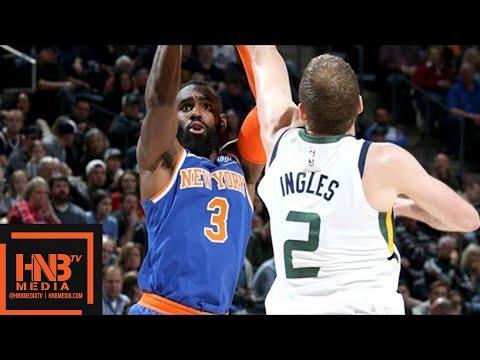 connectYoutube - New York Knicks vs Utah Jazz Full Game Highlights / Jan 19 / 2017-18 NBA Season