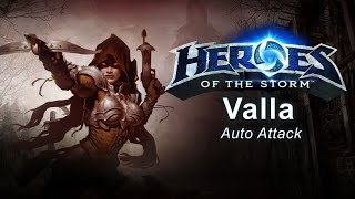 Heroes of the Storm - 'Auto Attack' Valla Gameplay