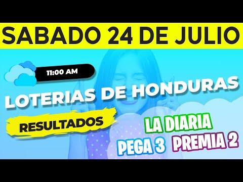 Sorteo 11AM Loto Honduras, La Diaria, Pega 3, Premia 2, Sábado 24 de Julio del 2021 | Ganador