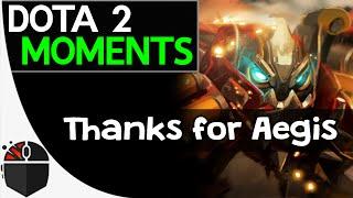 Dota 2 Moments - Thanks for Aegis