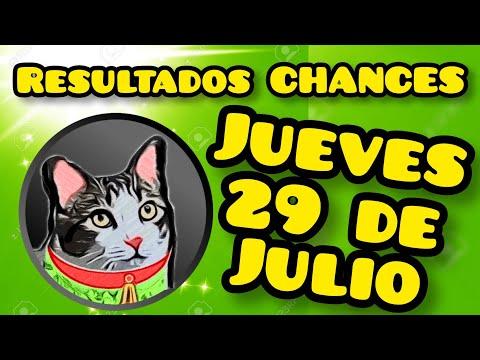 Resultados CHANCES Jueves 29 de Julio de 2021