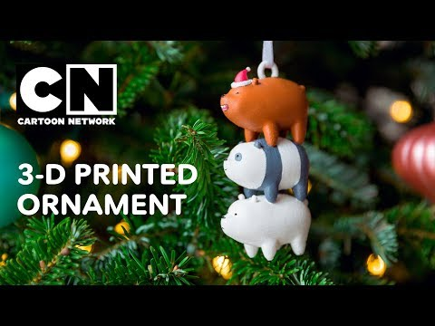 We Bare Bears | 3D Printed Bearstack Ornament! | Cartoon Network