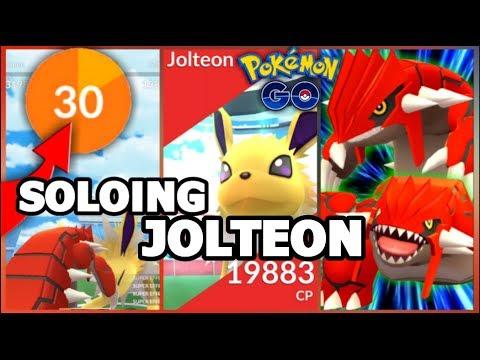 connectYoutube - JOLTEON RAID SOLO IN POKEMON GO | WEATHER BOOSTED GROUDONS DESTROY JOLTEON RAID