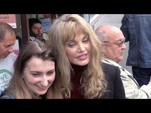 EXCLUSIVE : Arielle Dombasle comes out of the C a Vous tv show in Paris