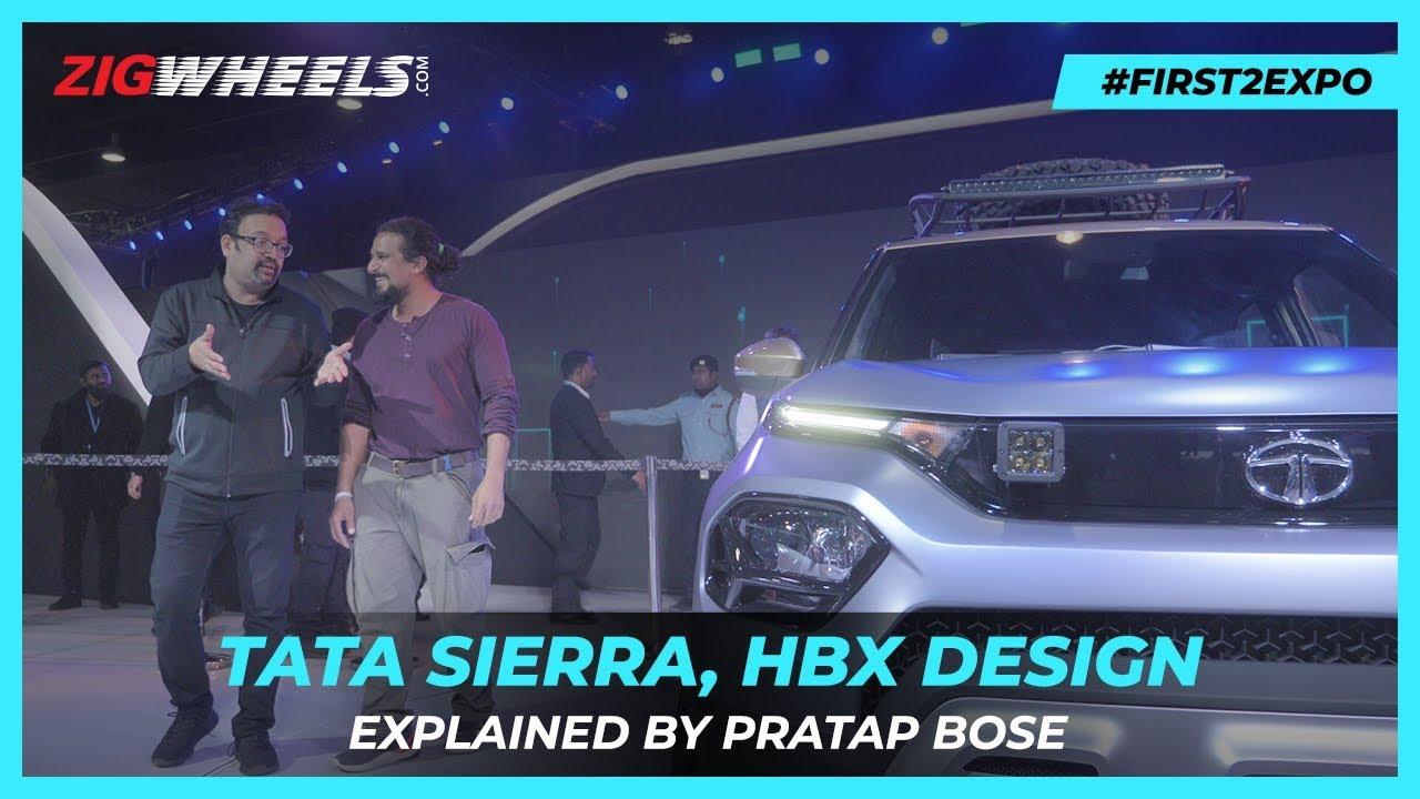 Tata Sierra SUV, HBX Explained | Hidden Details With Pratap Bose @ Auto Expo 2020 | Zigwheels.com