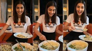 Pooja Hegde Latest Cooking Video At Home l Pooja Hegde Making Chicken Recipe - RAJSHRITELUGU