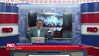 PBO - BUTTERS SOBRE ELECCIONES ENTRE CASTILLO Y KEIKO | Fujimori agradece a Vargas Llosa por apoyo