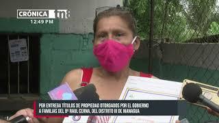 Garantizan seguridad jurídica de familias sobre su propiedad en Managua - Nicaragua