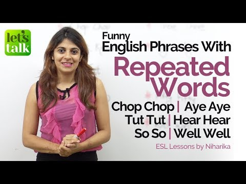 connectYoutube - Phrases with 'Repeated Words' used in Natural English Conversation – Free English Lessons