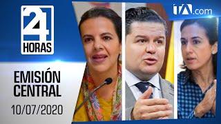 Noticias Ecuador: Noticiero 24 Horas, 10/07/2020 (Emisión Central)