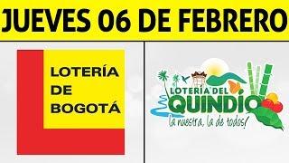 Resultados Lotería de BOGOTÁ y QUINDÍO Jueves 6 de Febrero 2020 | PREMIO MAYOR ????????????