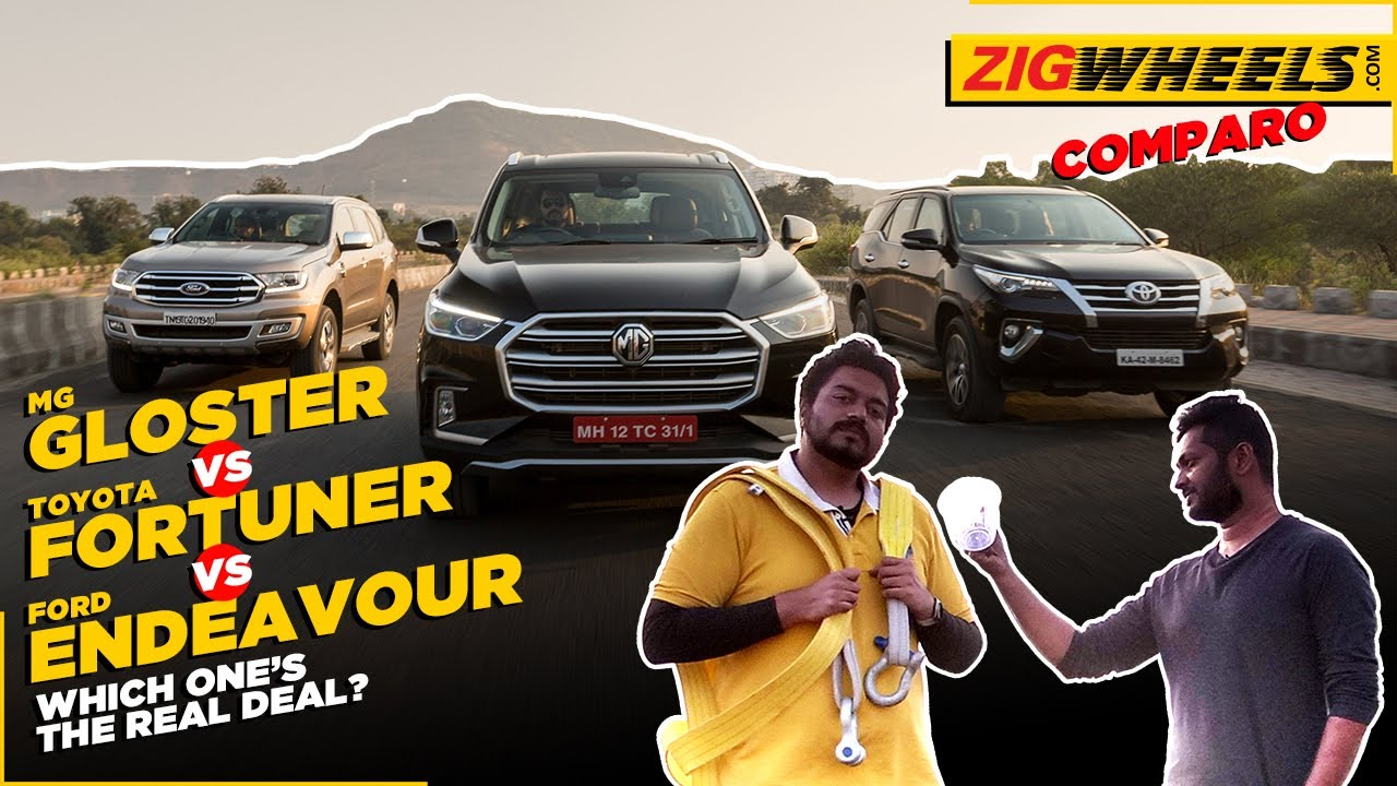 MG Gloster vs Toyota Fortuner vs Ford Endeavour | The S-U-V Test | Zigwheels.com