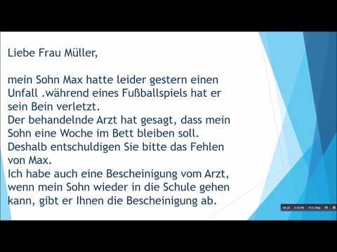 Deutsche Brief A1 A2 B1 Prüfung 42 Tomclip