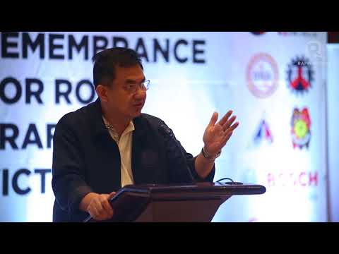 DOTr Usec Thomas Orbos' speech on World Day of Remembrance