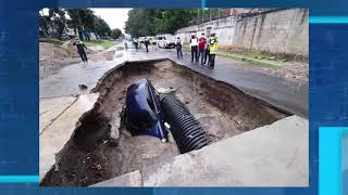 Conductor y alcalde dan su versión por accidente en hundimiento en Mixco