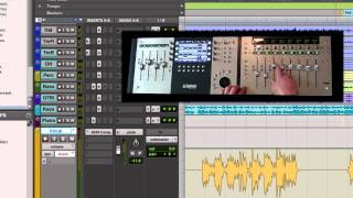 Avid Mix and Avid Control Demo with Pro Tools 9 - Using Automation Controls Part 2