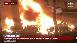 AVIÃO CAI NA ZONA NORTE DE SÃO PAULO | BRASIL URGENTE