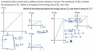 Energy dissipation across two resistors in series example