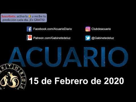 Horóscopo Diario - Acuario - 15 de Febrero de 2020