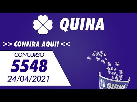 Resultado da Quina 5548 – Resultado da Quina de hoje 24/04/2021