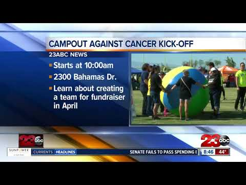connectYoutube - Campout against cancer holds kick-off on Saturday