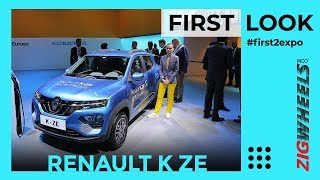 Renault Kwid Electric at Auto Expo | Detailed Walkaround | ZigWheels.com