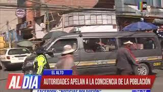 Caos en calles y avenidas de La Paz y El Alto por incumplimiento de disposiciones