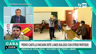 Cara a Cara | Braulio Grajeda, vocero del partido Perú Libre