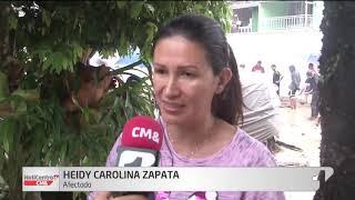 Emergencia en Santander: el río Frío se desbordó afectando vehículos y viviendas