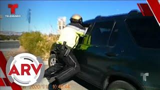Conductor de auto robado arrastra a policía en Las Vegas   Al Rojo Vivo   Telemundo
