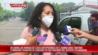 Lucha antiepidémica se mantiene en el barrio Jorge Dimitrov, Managua – Nicaragua