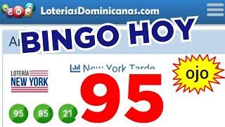 RESULTADOS de HOY..! (( 95 )) BINGO HOY..! Loteria NEW YORK TARDE/ Números reales 05 para hoy..!!