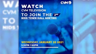 NIDS Virtual Hall Town Meeting - Part 2: Wednesday, January 20, 2021 | CVM TV