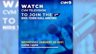 NIDS Virtual Hall Town Meeting - Part 2: Wednesday, January 20, 2021 | CVM TV