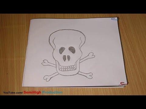 How To Draw Skull Tattoo - Very Easy Tutorial