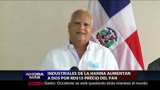 Industriales de la harina aumentan a dos por RD$15 precio del pan