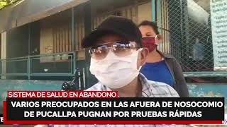 ¡PIDEN AYUDA A VIZCARRA! ???? Acampan para atención en Hospital de Piura, denuncian abandono