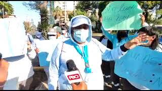 PBO EN VIVO VACUNACIÓN - Trabajadores de limpieza exigen vacuna al Minsa ????